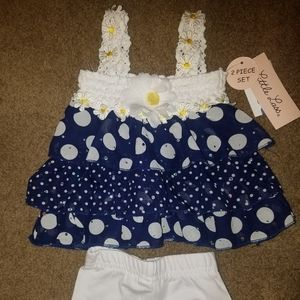2pc 6mts Little Lass spring outfit